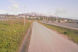 to the south from the airport, Tromsø