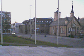 grocery store and catholic church from the rådhus