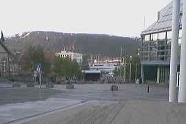 open stage being built in Tromsø, June 2009
