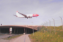a Norwegian flight arriving in Tromsø