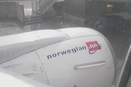another Norwegian flight, before departure