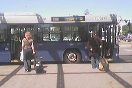 BKV airport bus 200E, Budapest